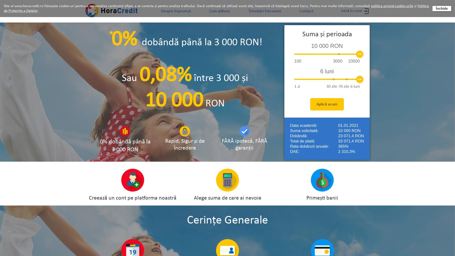 HoraCredit [CPS] RO website