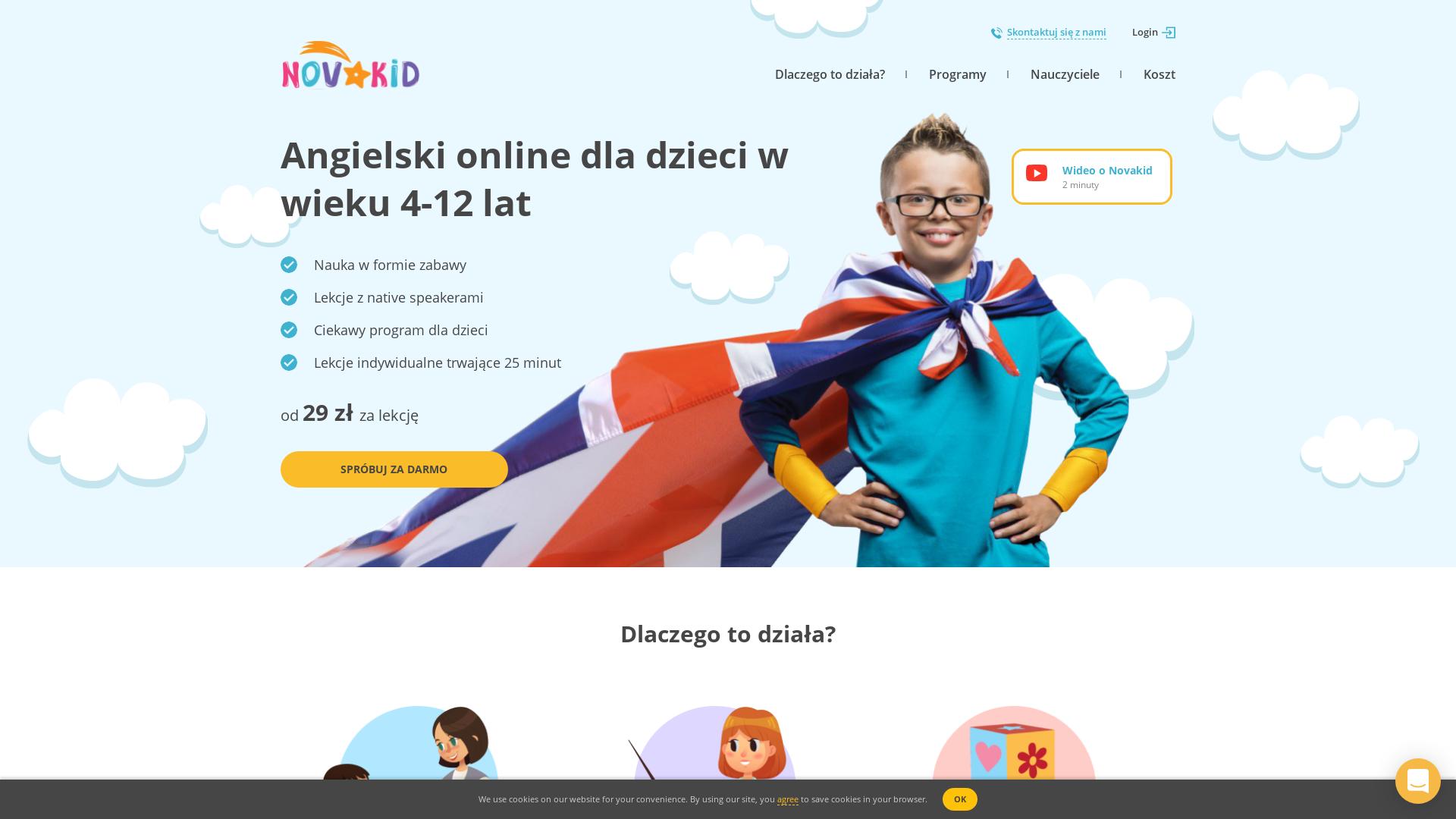 Novakid PL website