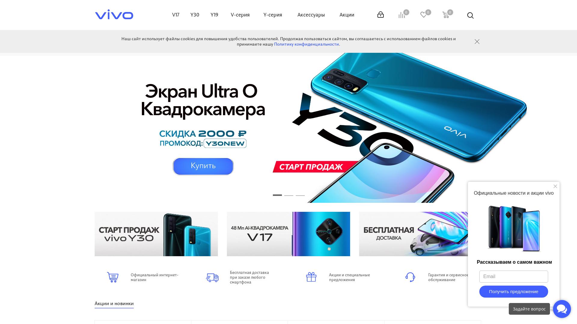 Vivo RU website