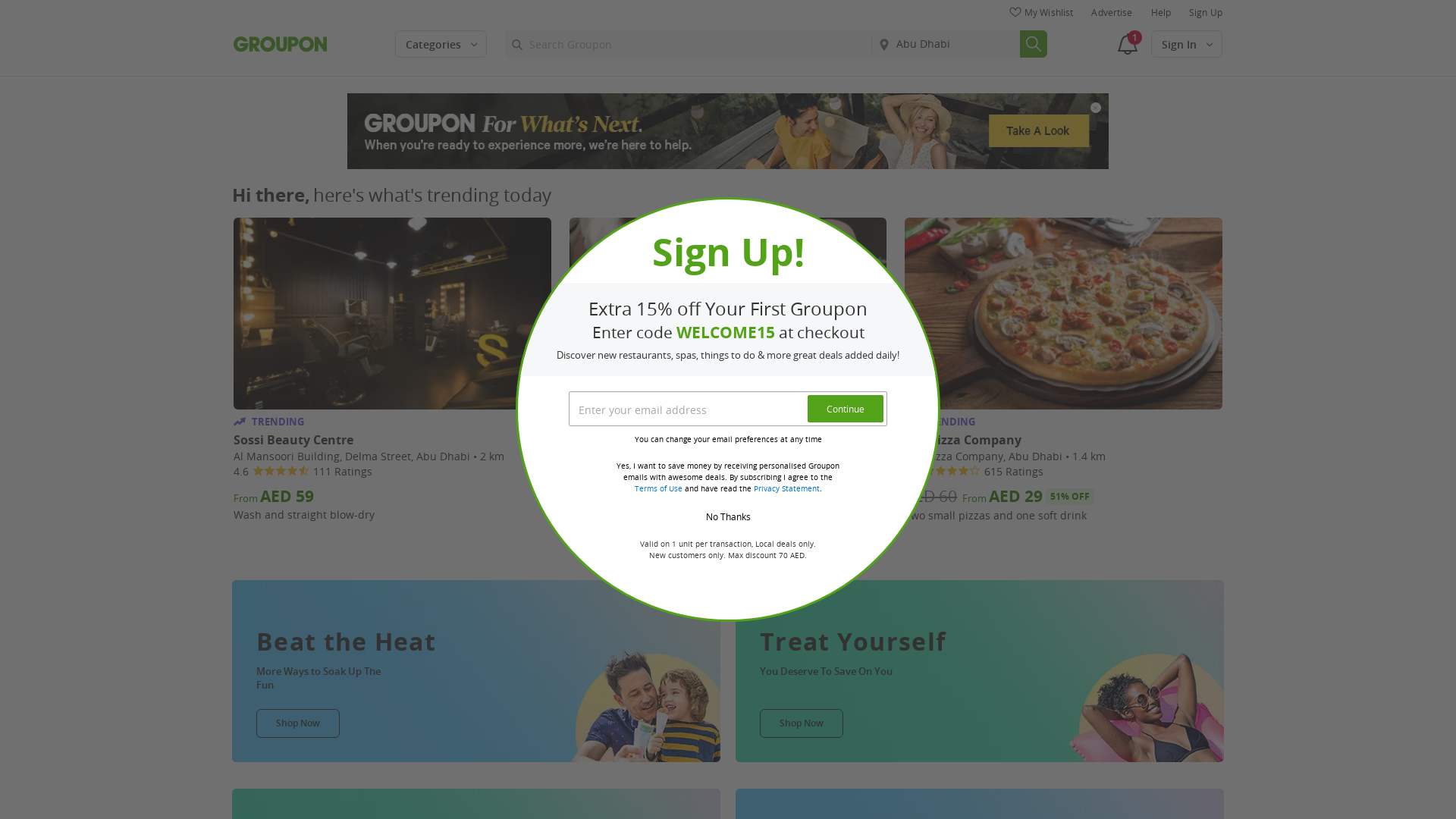 Groupon AE website