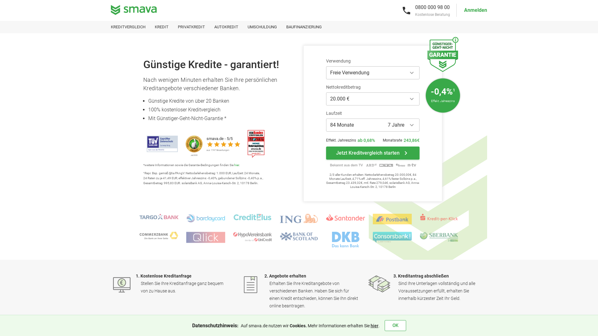 SMAVA [CPS] DE website
