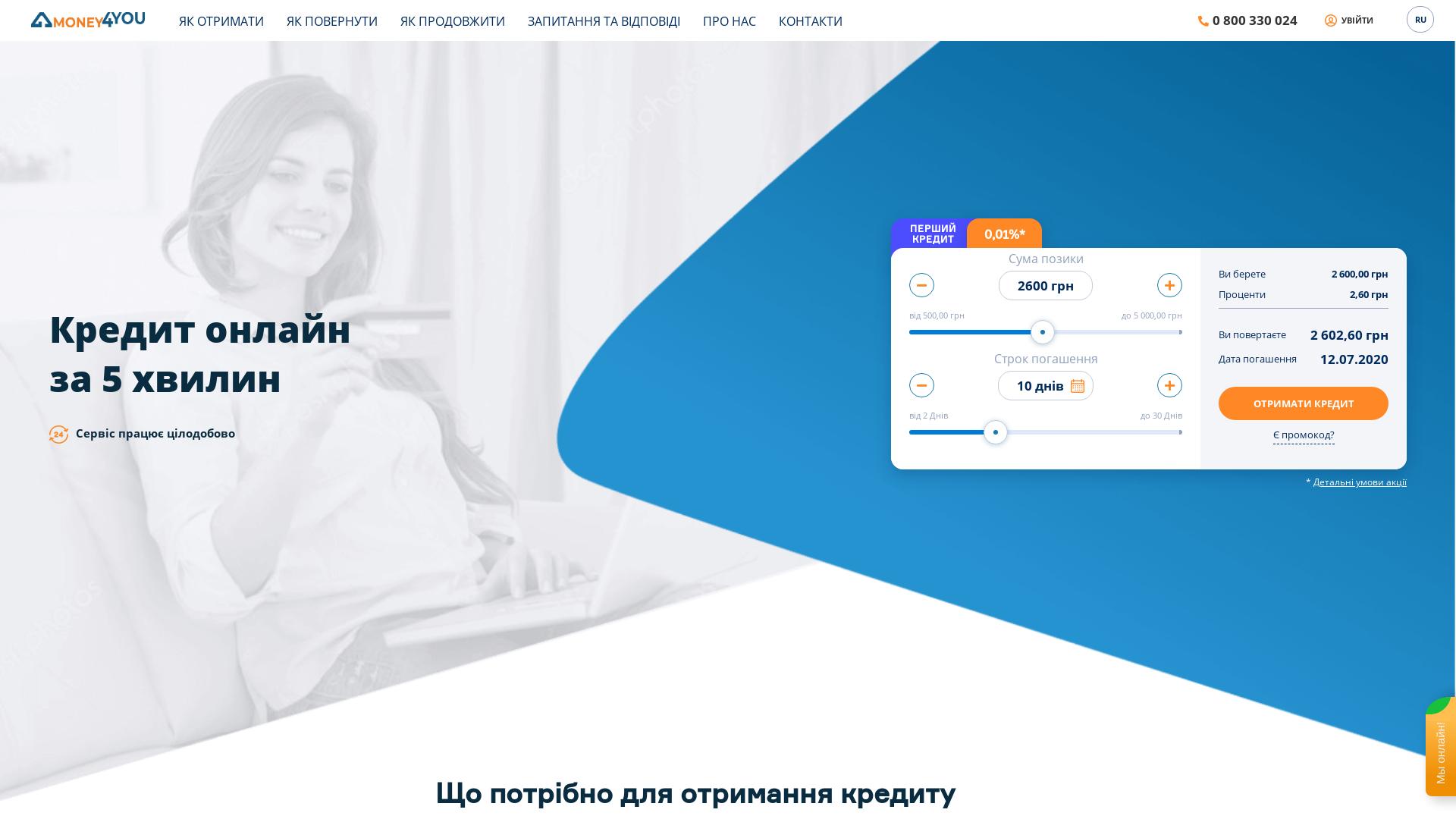 Money4you [CPS] UA website