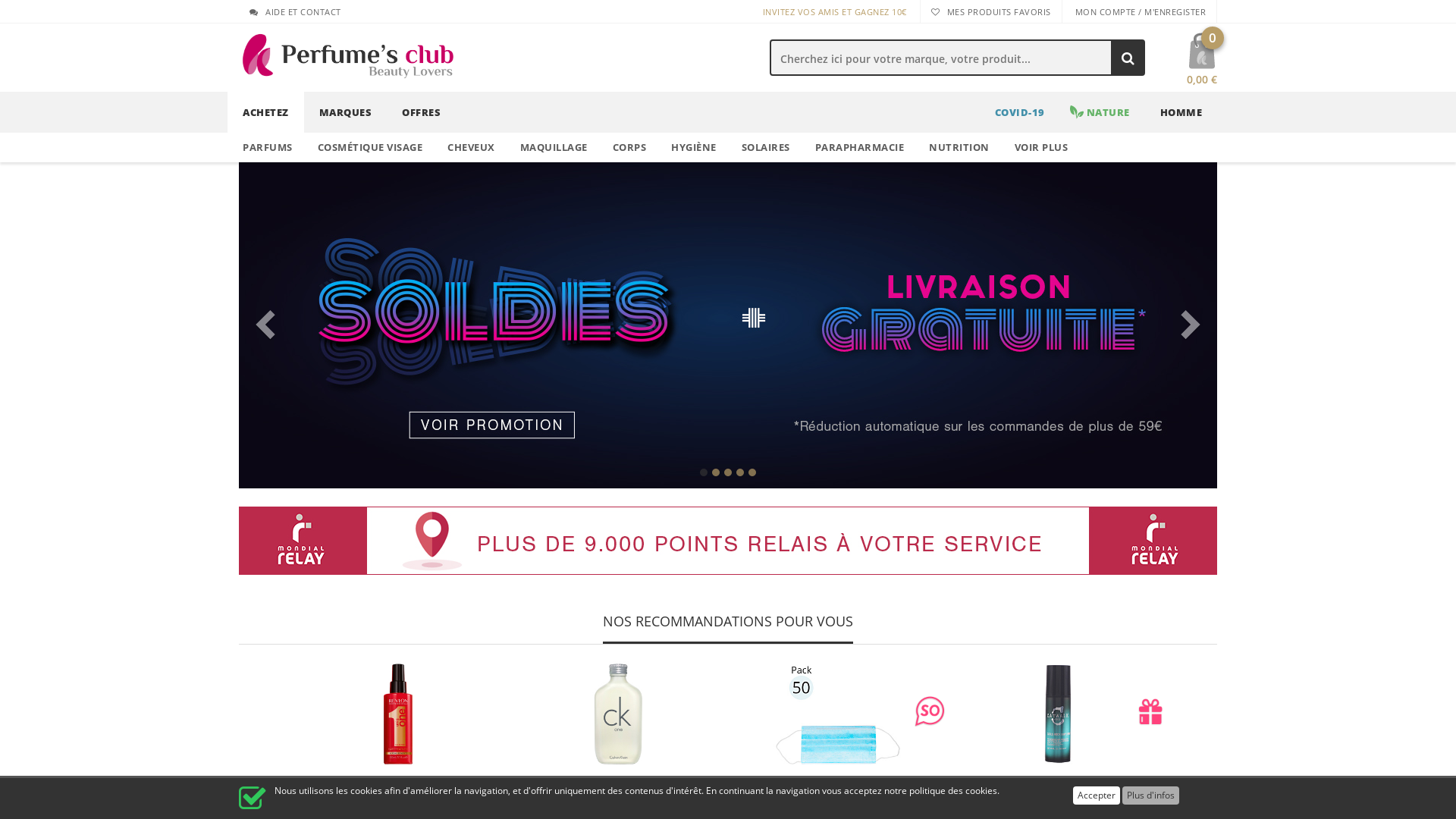 Perfumes Club [CPS] IT FR website