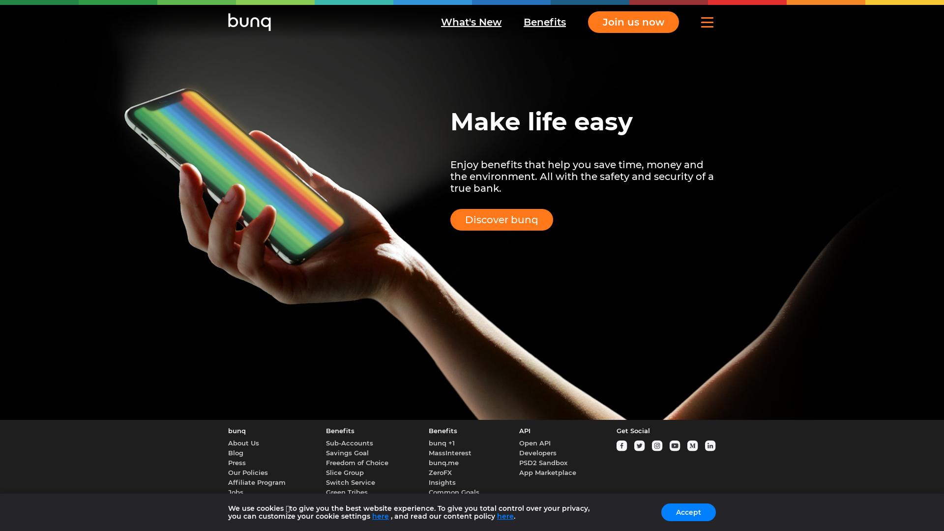 bunq [CPS] Many GEO's website
