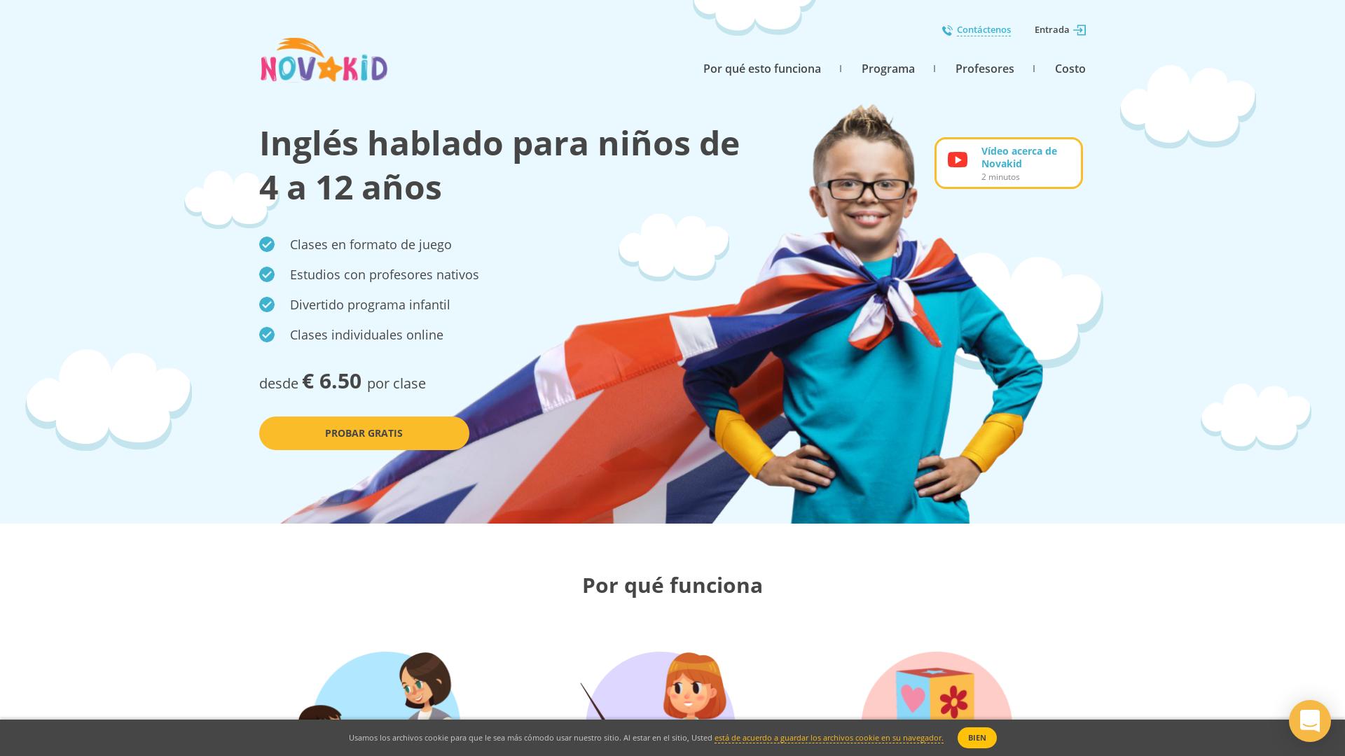 Novakid ES website