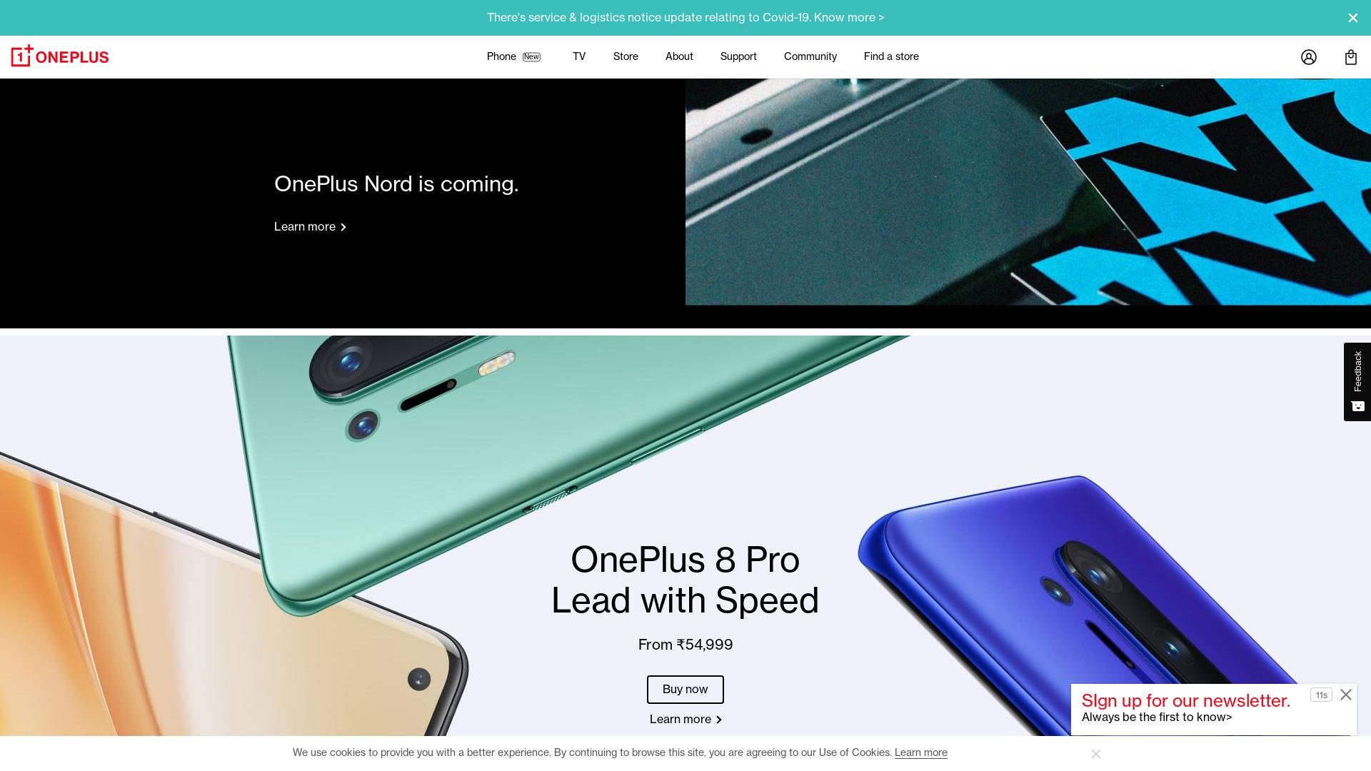 OnePlus [CPS] IN website