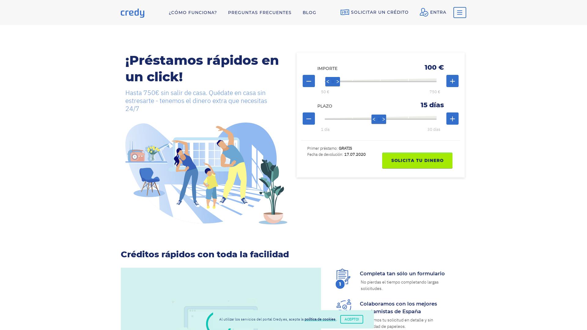 Credy ES CPL website