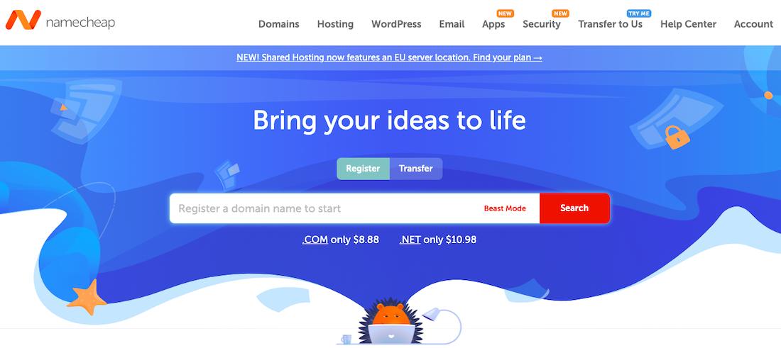 Namecheap website