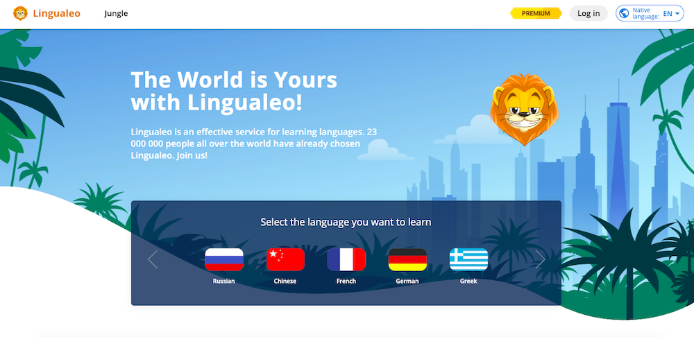 Lingualeo website