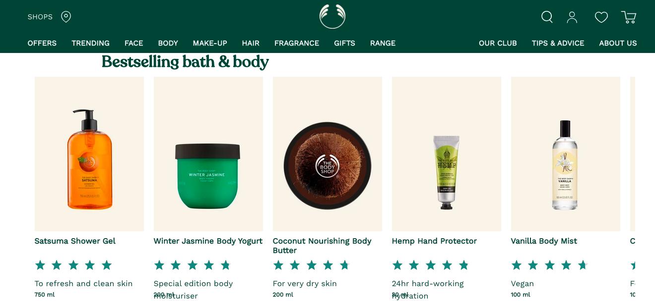 The Body Shop AU website