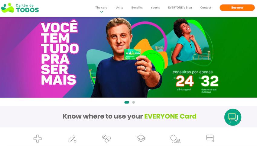 Cartão de Todos website