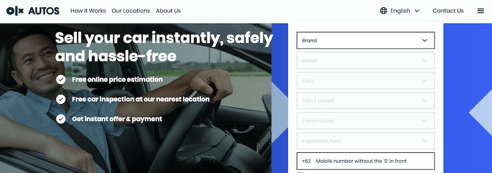 OLX Auto website