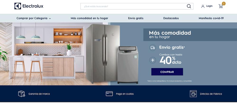 Electrolux Peru website