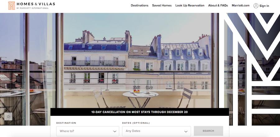 Homes & Villas by Marriott International website