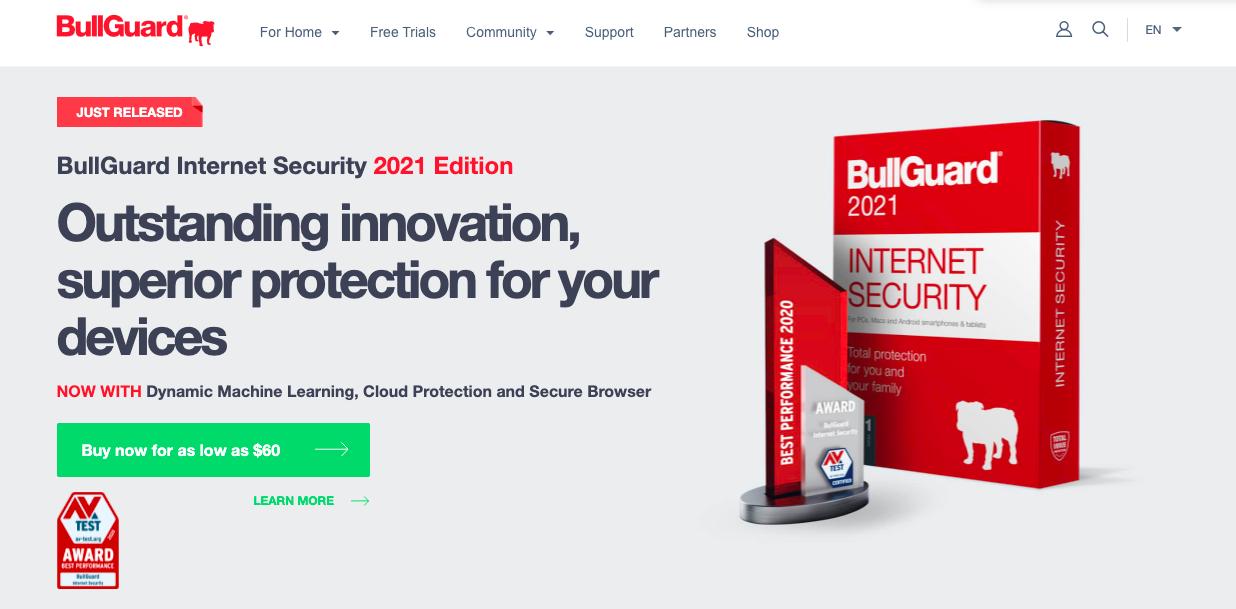 BullGuard VPN website