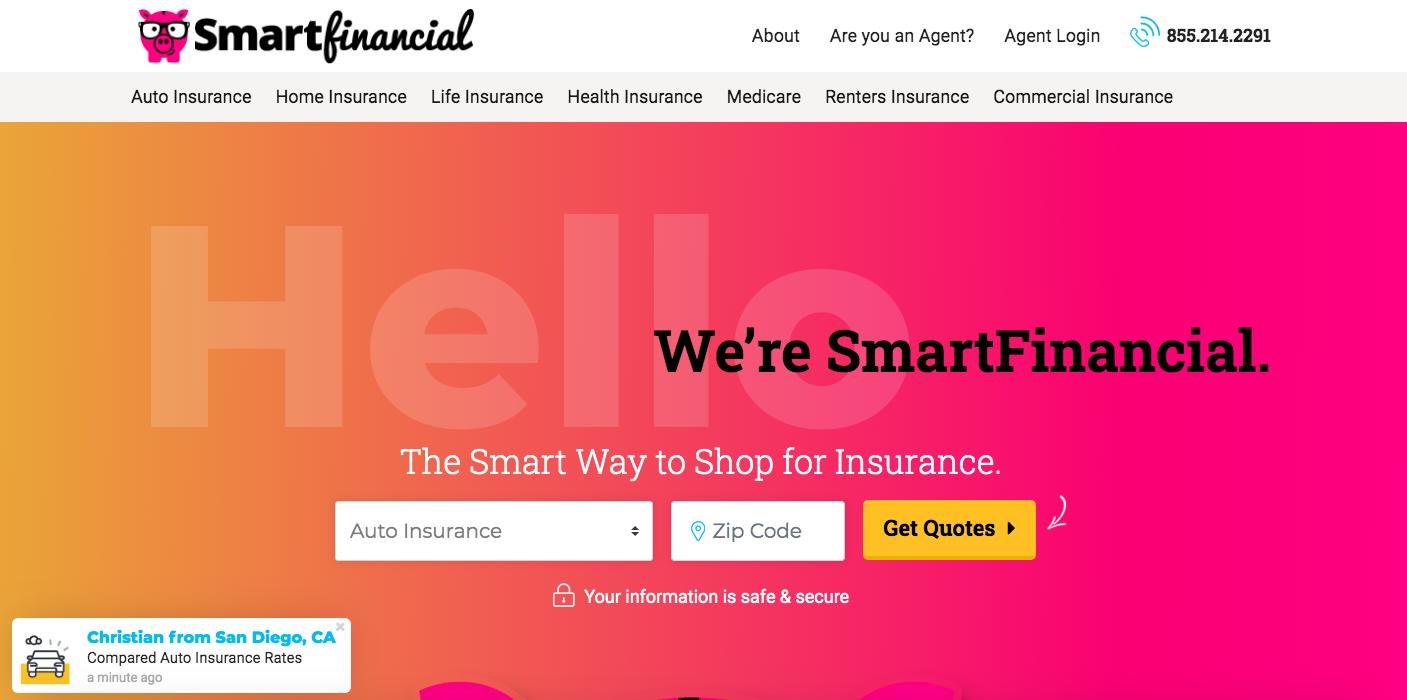 Smart Financial - Auto Leads website
