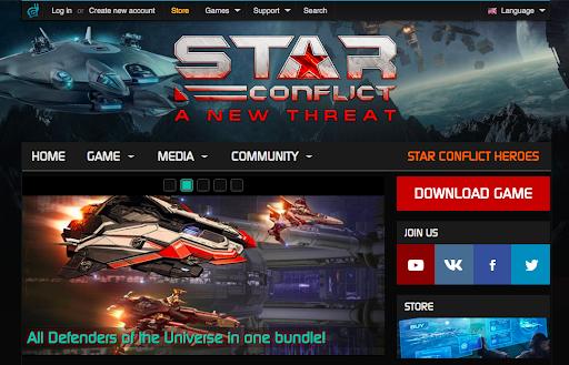 Star Conflict website