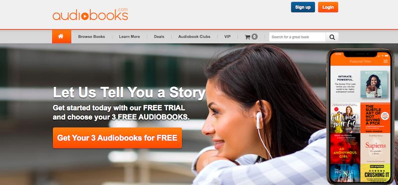 Audiobooks.com website