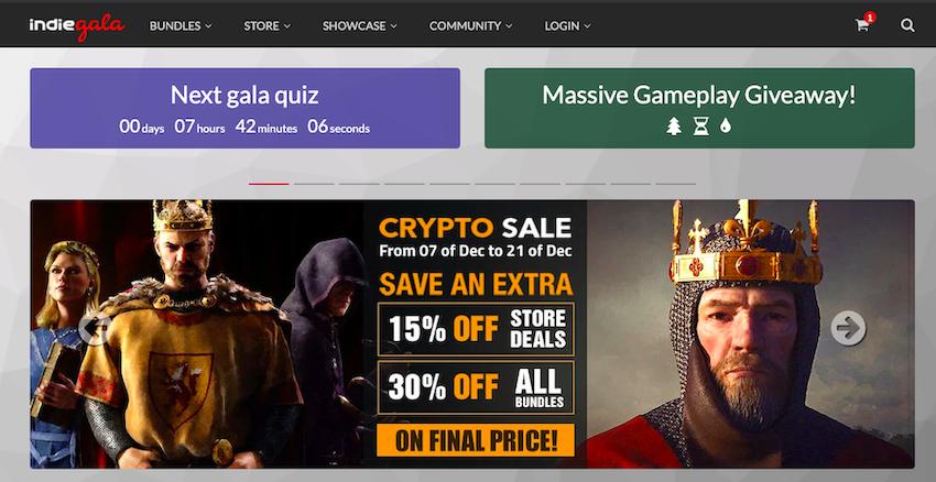 Indiegala games website
