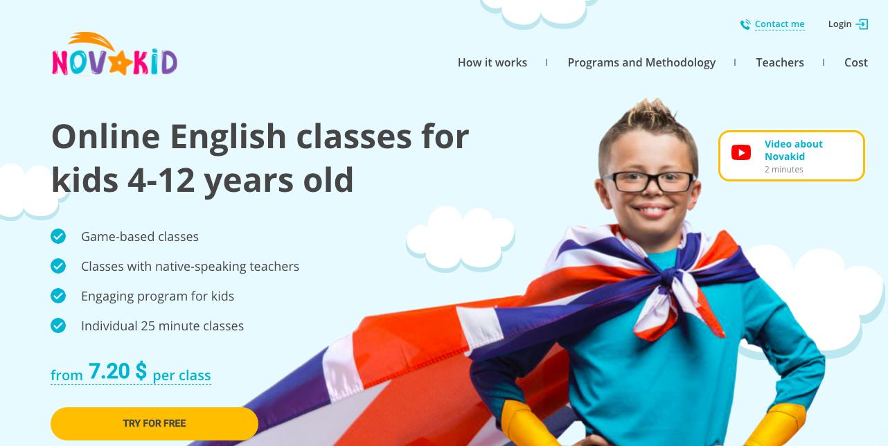 Novakid School website