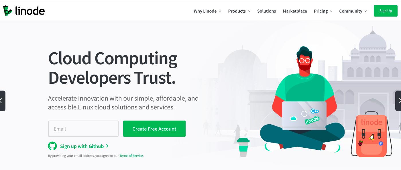 Linode website