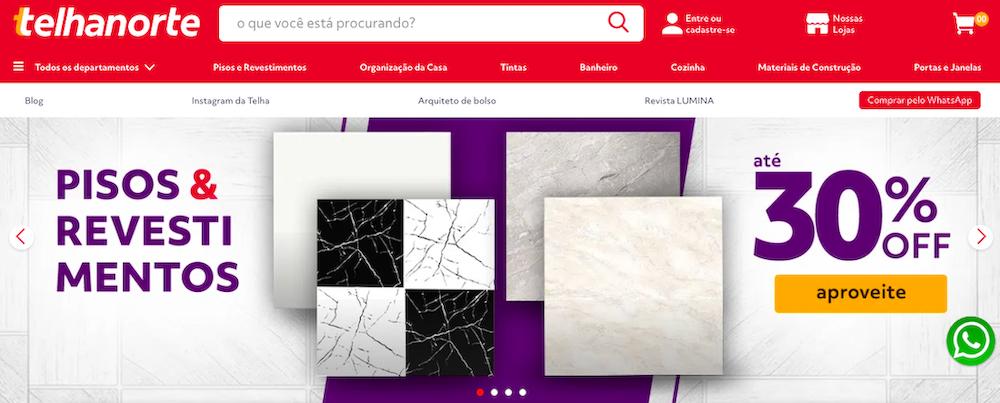 Telhanorte website