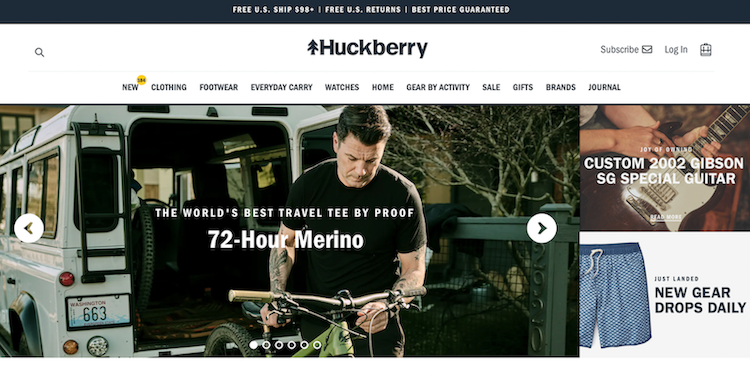 Huckberry website