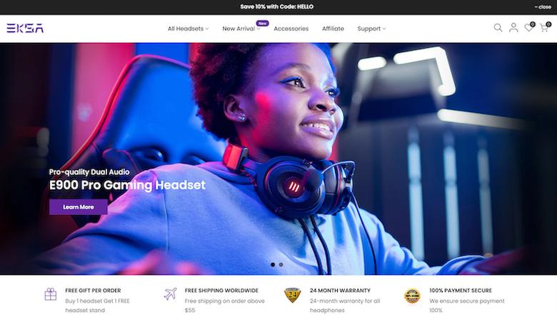 EKSA Gaming website