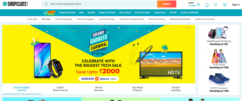 Shopclues website