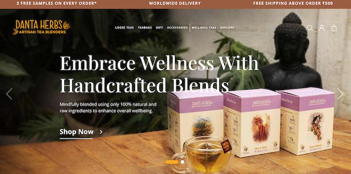 Danta Herbs website