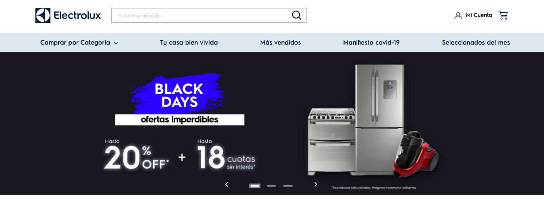 Electrolux Argentina website
