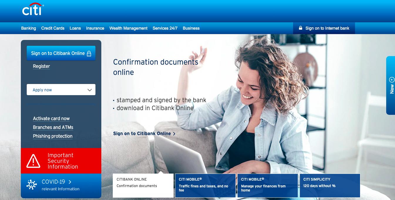 Citibank PH Loans website