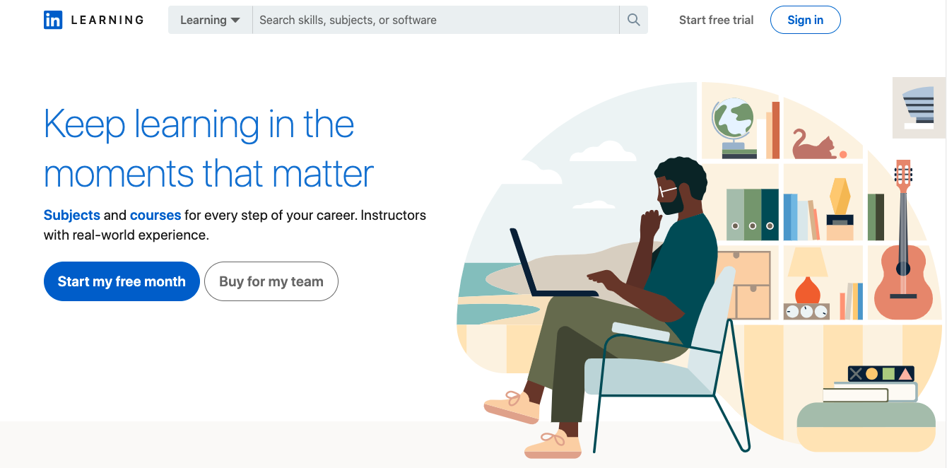 Linkedin Learning website
