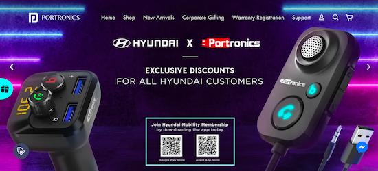Portronics website