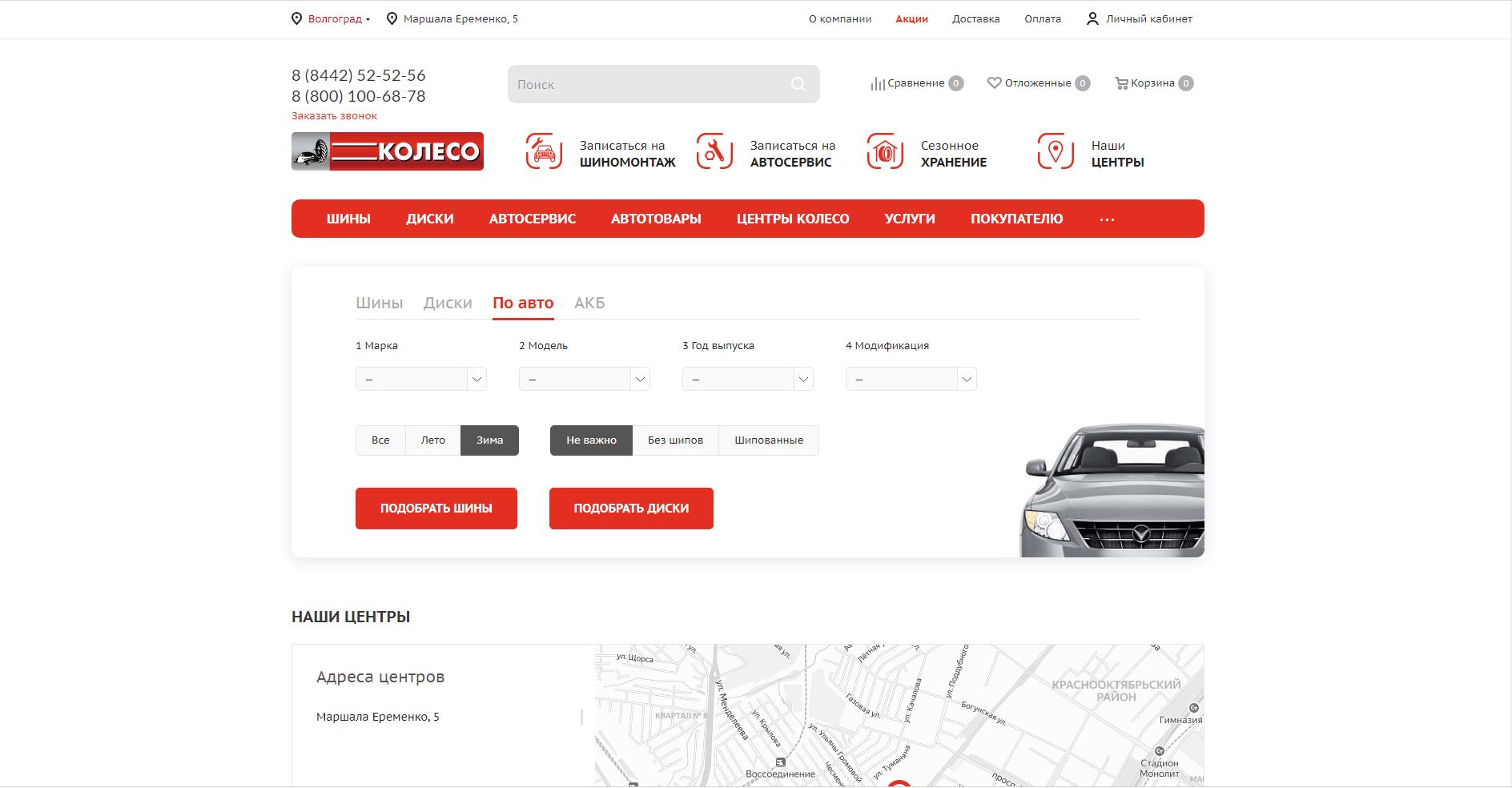 koleso.ru website