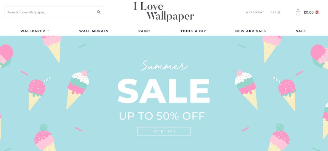 I Love Wallpaper Store website