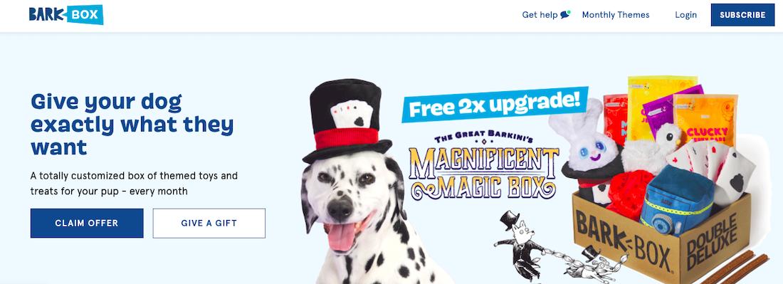 BarkBox website
