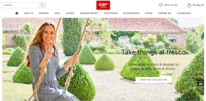 Cotton Traders website