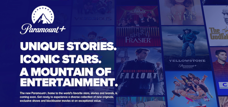Paramount+ website