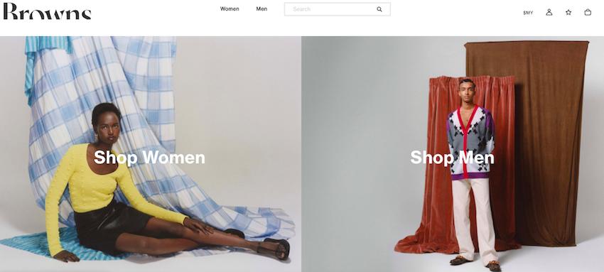 Browns Fashion website